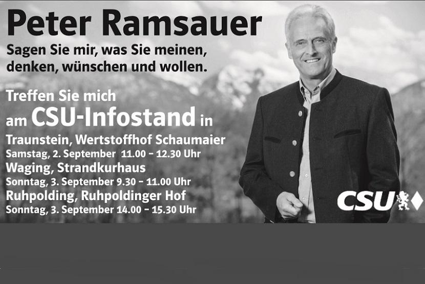 Infostände im Landkreis Traunstein