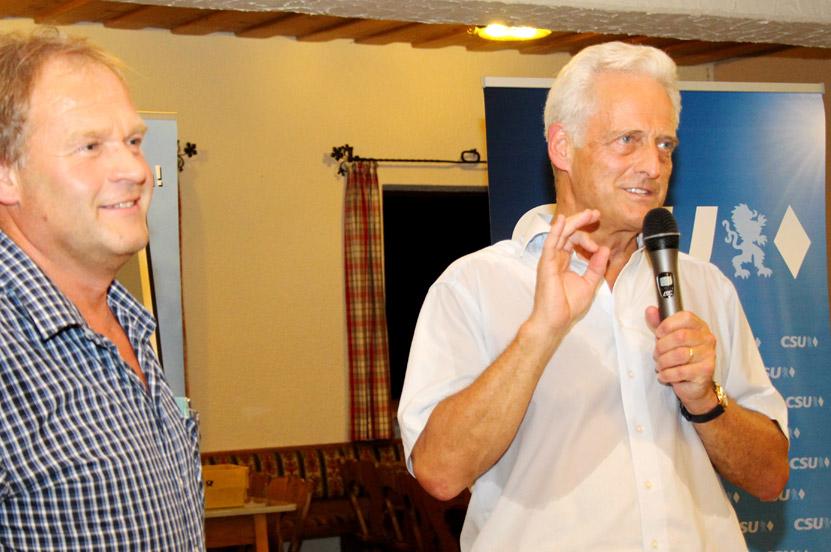 CSU Sommergespräch in Fridolfing mit Dr. Peter Ramsauer