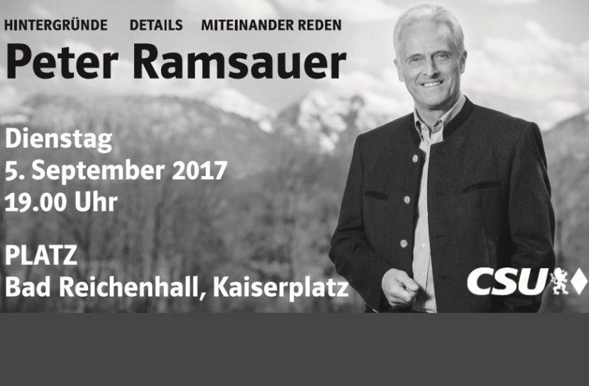 Peter Ramsauer im Platz, Bad Reichenhall