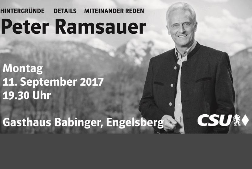 Peter Ramsauer in Engelsberg