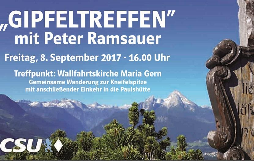 Gipfeltreffen mit Peter Ramsauer