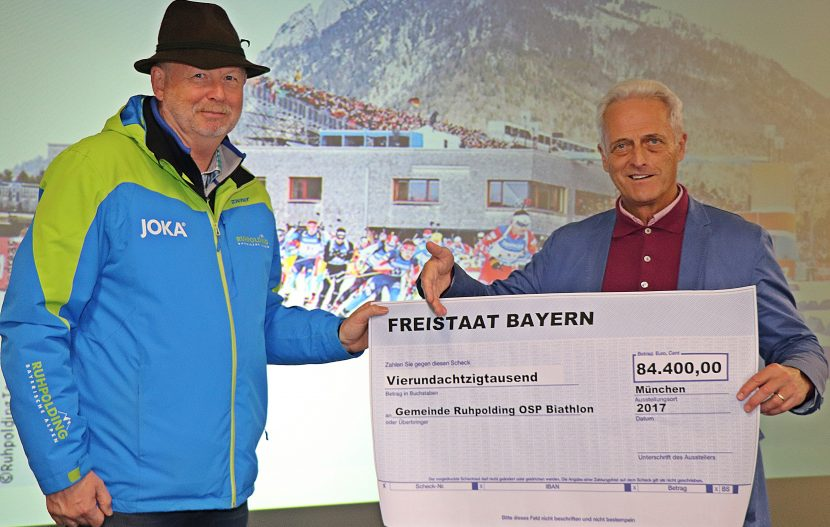 84.400 Euro für die Chiemgau-Arena in Ruhpolding