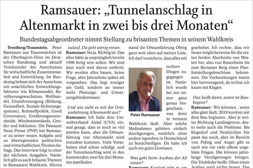 Interview am 6.03.2018/Trostberger Tagblatt-Traunreuter Anzeiger-Südostbayerische Rundschau
