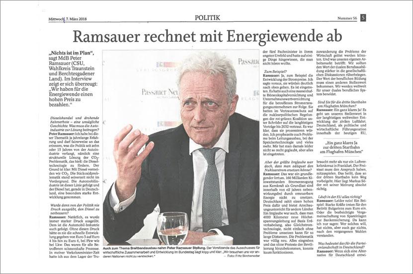 Interview am 07.03.2018 / Trostberger Tagblatt-Traunreuter Anzeiger-Südostbayerische Rundschau