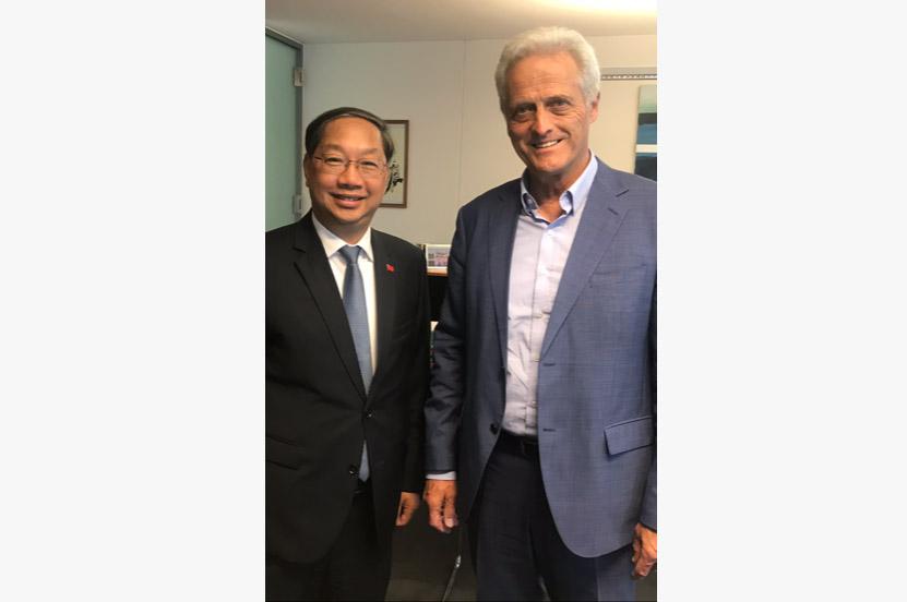 Peter Ramsauer empfängt den Botschafter der Volksrepublik China