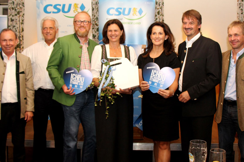 Tolle Stimmung bei der CSU-Kreisvertreterversammlung in Bad Reichenhall