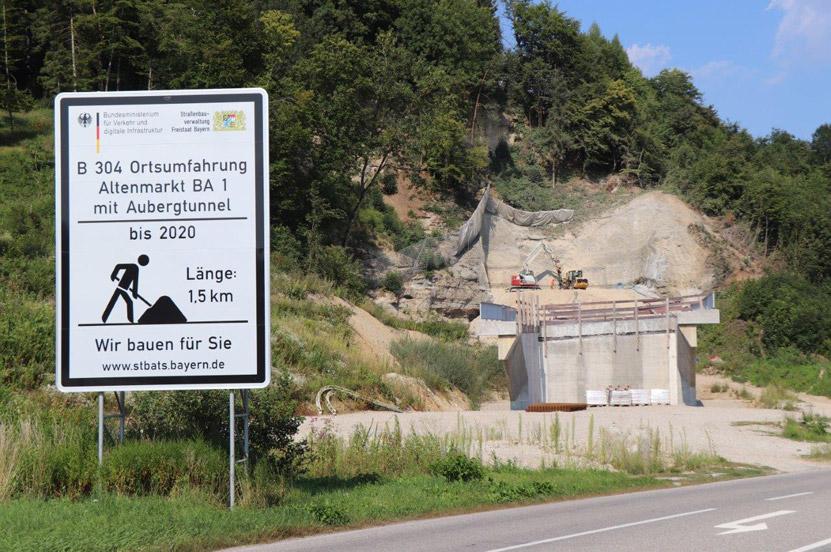 Tunnelanschlag am Aubergtunnel