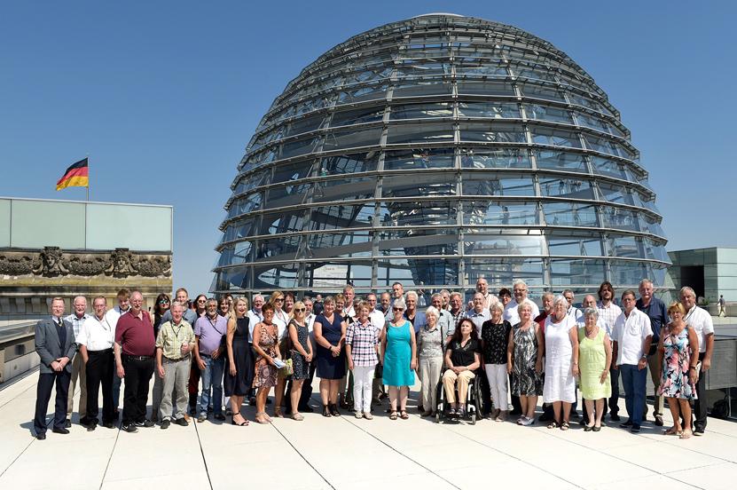 VdK Kreisverband Traunstein auf Einladung von Peter Ramsauer in Berlin