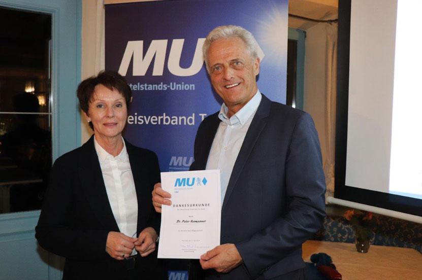 Jahreshauptversammlung der Mittelstands-Union – Peter Ramsauer für 40-jährige Zugehörigkeit geehrt